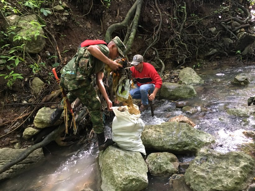 River basin cleaning day organised by Tananeos Natural Reserve