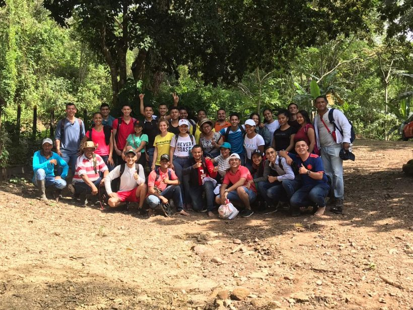 Environmental engineering students visit the Reserve